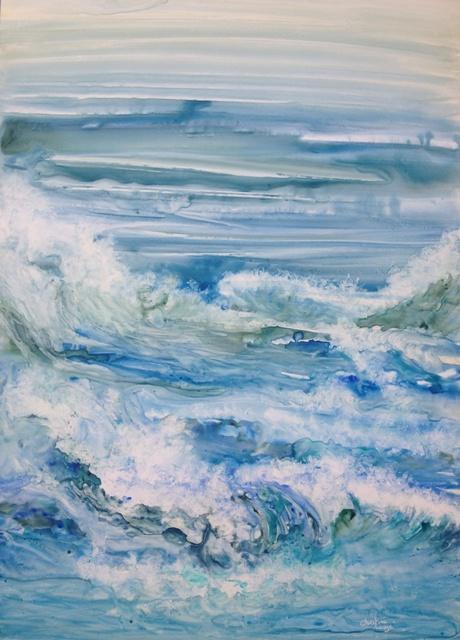 aquarelle 50X70 cm sur papier yupo (lanavangard )