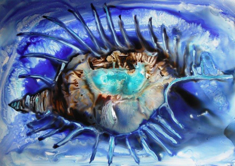 Aquarelle sur papier Lanavangard 34 x 48 cm (encadrée 50 x 65 cm )