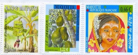 3 timbres Mayotte C. Louzé