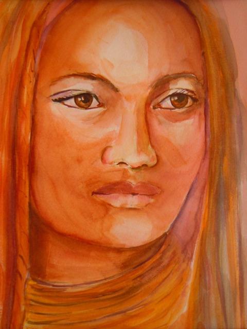 portrait aquarelle Himba