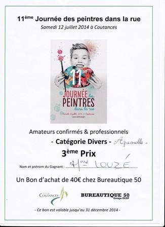 classement Peindre ds la rue Coutances