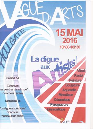 HOULGATE AFFICHE 2016 VAGUE D`ARTS